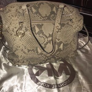 Snakeskin Michael kors hobo bag